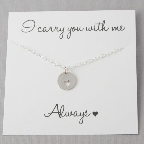 Miscarriage Necklace Infant Loss Jewelry Heart by daisymedesigns