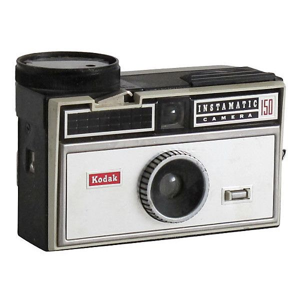 Fig + Stone Designs Pre-Owned Kodak Instamatic Camera found on Polyvore featuring home, home decor, decorative accessories, silver home decor и black home decor