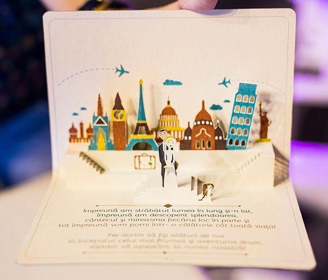 Invitatii unice si personalizabile. O călătorie cât toata viața #travelinvitations #weddinginvitations #3dinvite #travel #recycled #invitatii3d #nuntaromania #calatorie #nuntadevis #felicitari #felicitari3d
