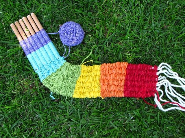 Stick weaving tutorial including how to make stick weaving tool