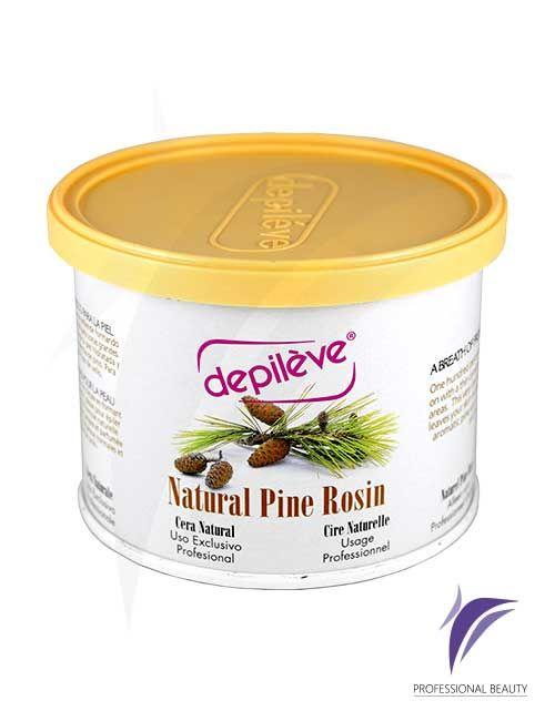 Cera Pino Natural 400g: Su eficaz fórmula natural 100% pura resina de pino, deja su piel hidratada y limpia, recomendada en pieles normales y todo tipo de vello.