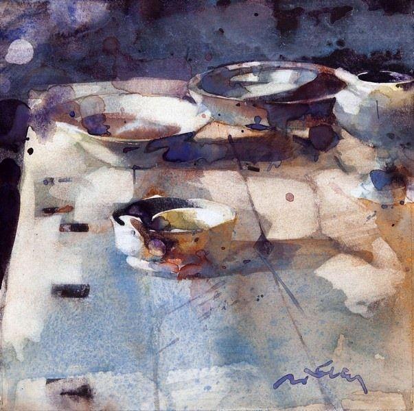 Marc Folly WATERCOLOR- Still life bowls