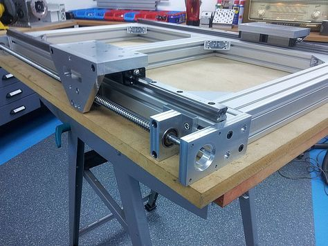 Build Thread cnc router , aluminum frame , pics only ...