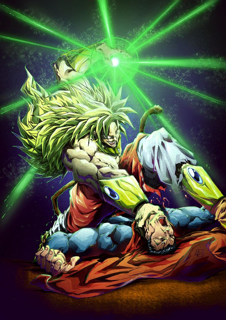 Broly vs superman color da by marvelmania on deviantart - Broly dragon ball gt ...