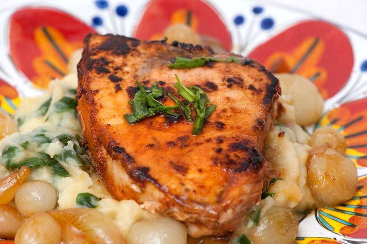 Photo of Blackened Swordfish on Truffle-Flavored Mashed Potatoes with Spinach #recipe #cooking