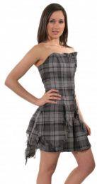 photo of product 5677 bella plaid corset hamilton grey