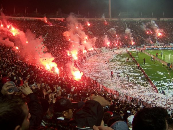 #Toumba Stadium on Fire