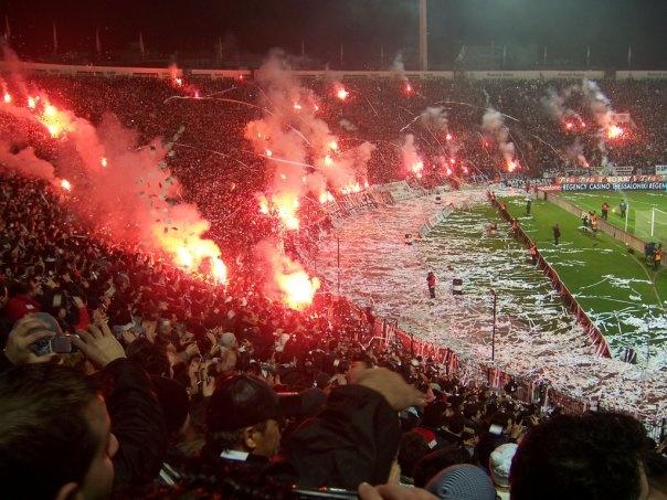 #Toumba Stadium on Fire