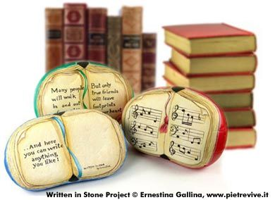 How to Paint Novelty Open Book Quote Rocks  Written in Stone Project