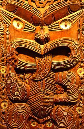 Maori mask, Otago Museum, Dunedin, Otago, New Zealand マオリマスク、オタゴ博物館、ダニーデン、オタゴ、ニュージーランド