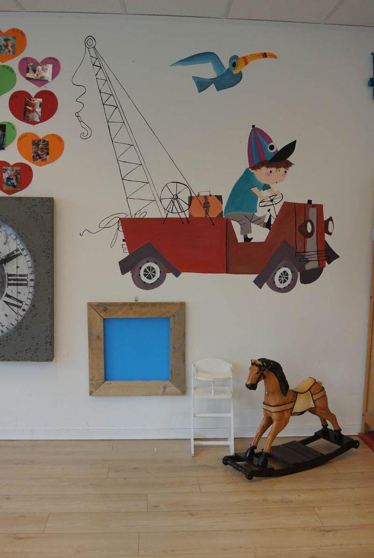 muurschildering Pluk van de Petteflet  door Janet Edens op een kinderdagverblijf in Amersfoort  http://janetedens.nl/muurschilderingen/