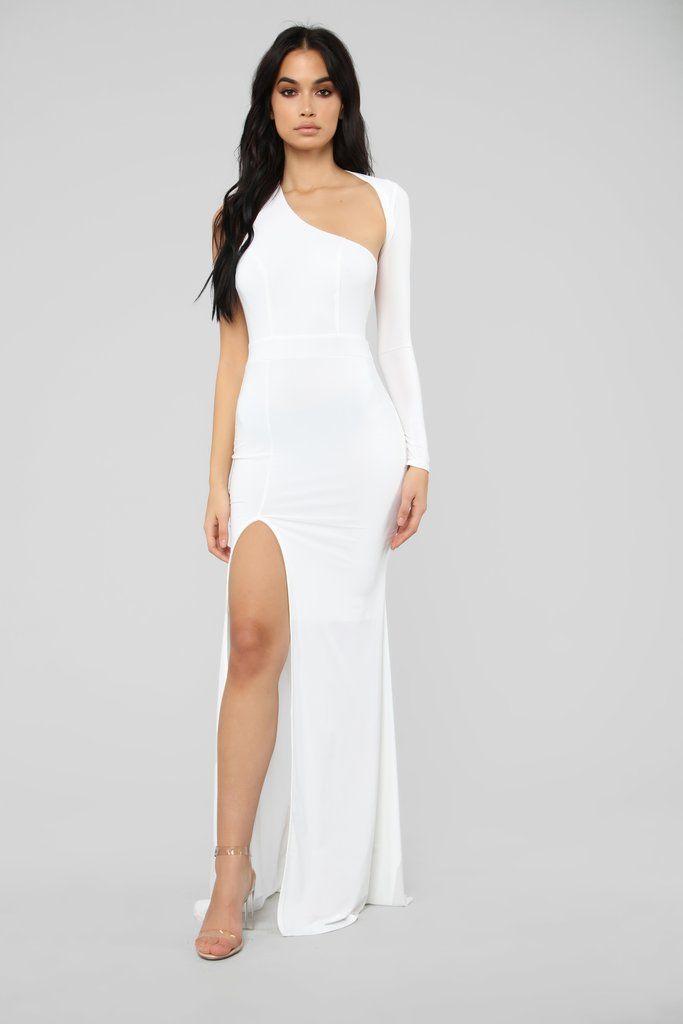 e7e20c4dfec Feels Like Lust One Shoulder Dress - White in 2019