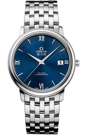 Omega De Ville Prestige Blue Dial Stainless Steel Ladies Watch 42410372003001 | WatchCorridor
