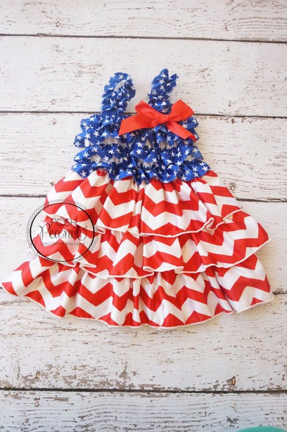 4th of july outfit 4th of July dress Kids 4th of by PoshPeanutKids