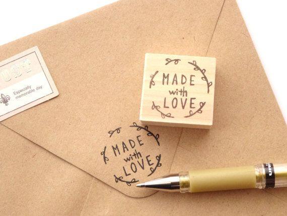 fait avec amour tampon timbre personnalis timbre couronne papeterie kawaii des - Timbres Personnaliss Mariage