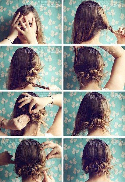 Um penteado fácil e lindo!