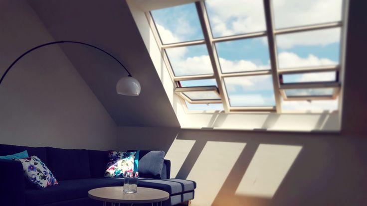 Domingo sofa in attic flat.