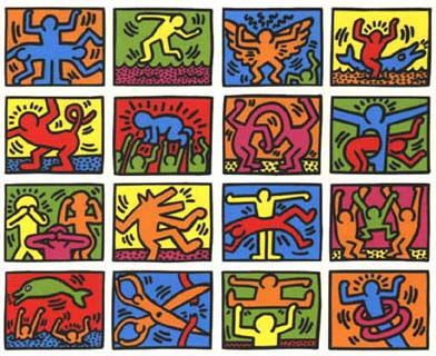 letter by Keith Haring | Beautiful Letters(Love letter) | Pinterest