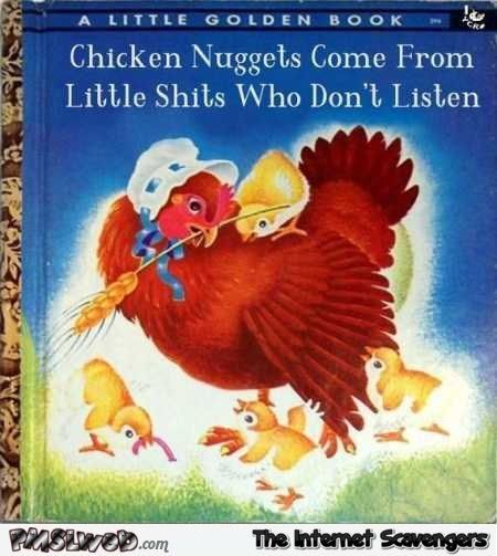 Funny Chicken Nuggets Golden Book #childrenBooks
