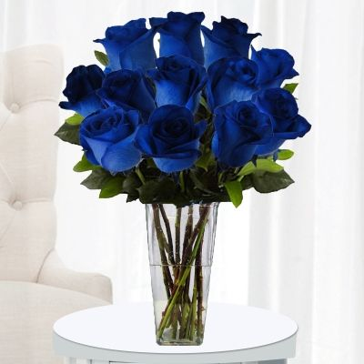12 Stems with Clear Vase