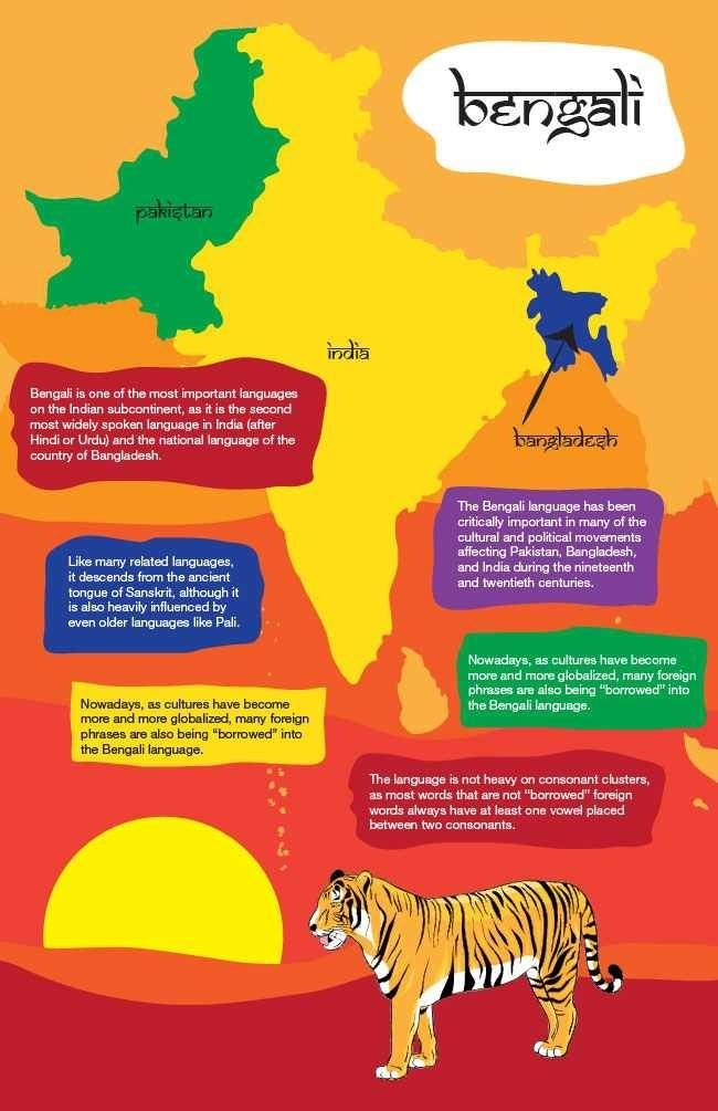 Information about Bengali, one of India's major languages