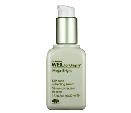 """Best Brightening Serum: Dr. Andrew Weil for Origins Mega-Bright Skin Tone Correcting Serum, $55    Anti-irritants such as white peony calm skin (irritation can lead to dark spots); licorice helps brighten spots you already have. Our tester went nuts over it: """"It's just excellent all around!"""" Need we say more?"""