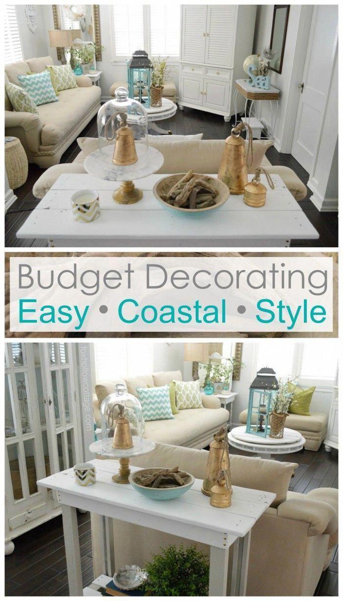 Budget Decorating Easy Affordable Coastal Style