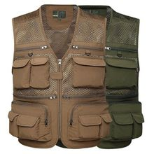 Strong-Toyers waterproof Fishing Vest Summer Hunting Vest Jackets Multi-pockets Professional Photography Working Wear Vest