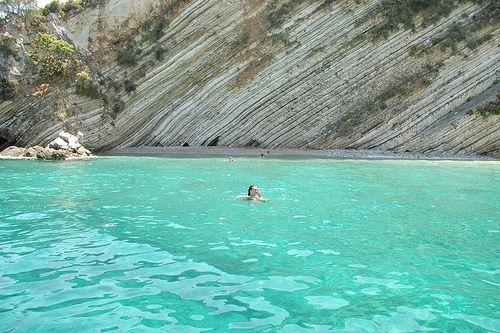White rocks... powder blue sea - Ithaki, Ionian islands, Greece
