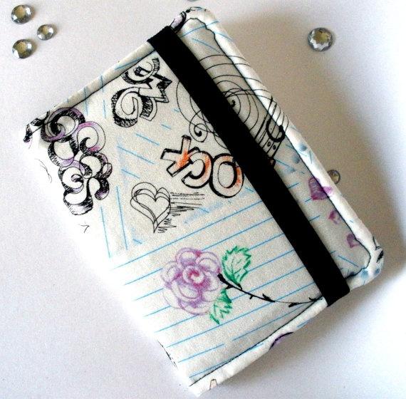 Notebook Doodles  Purse Wallet / Business Card by bloomandbling, $13.00