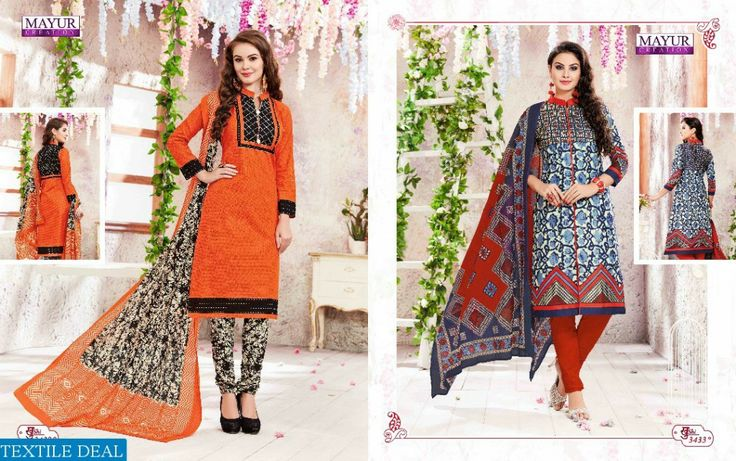 Shop Now Mayur Present Khushi Vol - 34 Cotton Printed Dress material at Wholesale Rate #TextileDeal #WomensClothing #DressMaterial