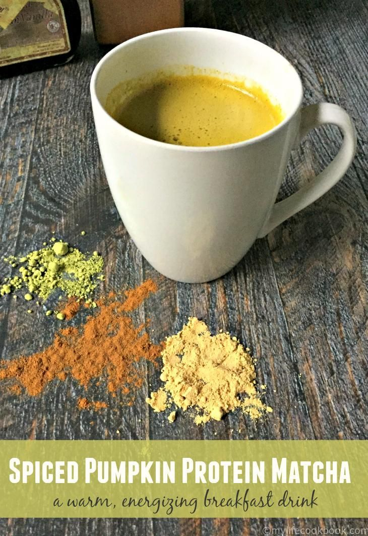This spiced pumpkin protein matcha is the perfect energy drink to start your morning. Packed with protein, low in carb and an energizing boost with matcha green tea.