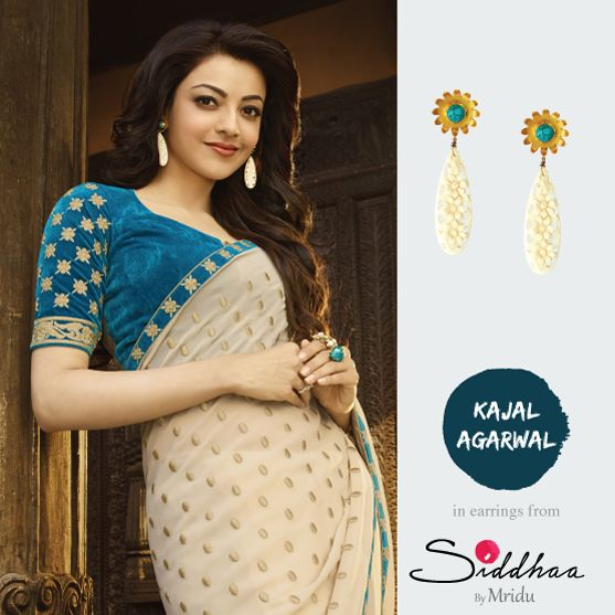 Already awesome..... APRIL   @kajalaggarwalofficial sporting earrings by @Siddhaa    #kajalaggarwal #kajalagarwalfans #siddhaa #designer #silver #april #earrings #flower #turquoise #SiddhaaByMridu #jotd #potd #shopthelook #buyonline