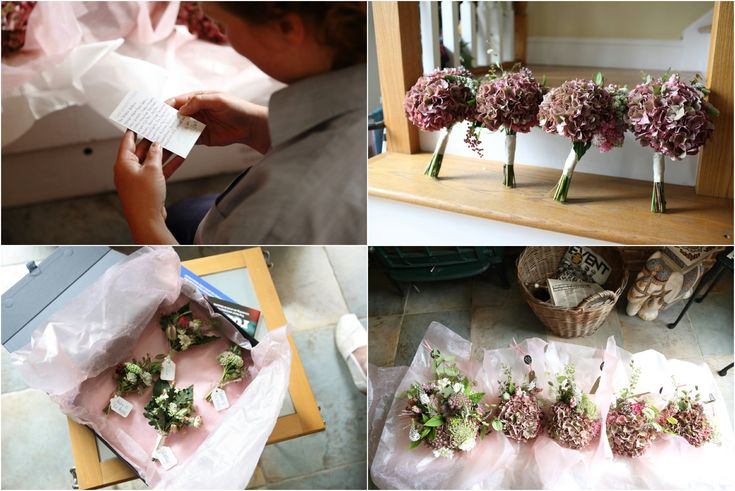 knapwell wood farm Cambridge, getting ready for the wedding. Flowers by Clare Kenward. Click through for morr of this amazing wedding at Childerley
