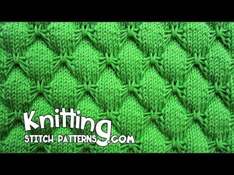 Butterfly stitch - KNITTING - YouTube