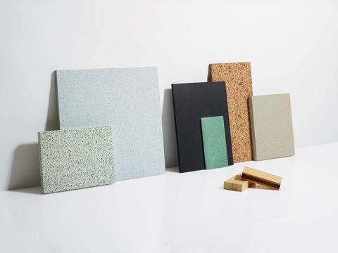 Dwell Magazine review of seven different recycled content countertop materials