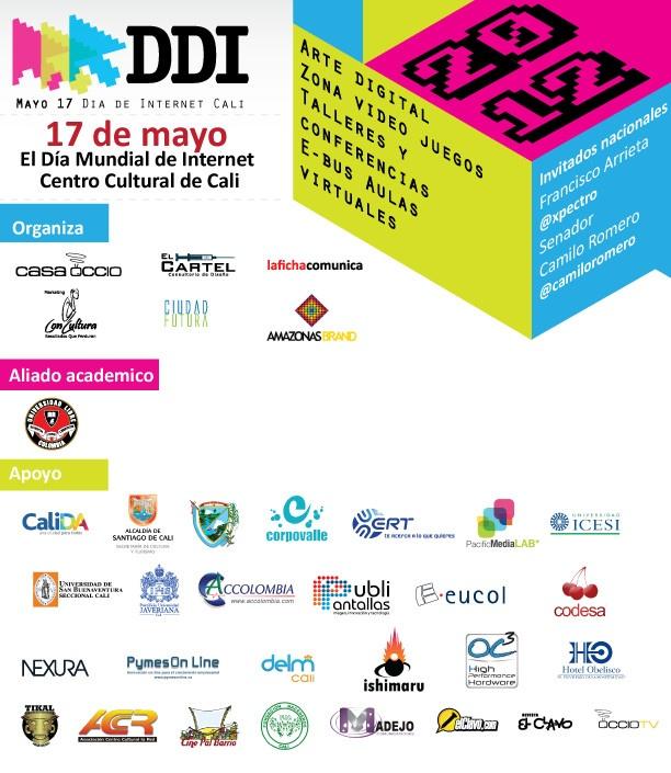 El próximo 17 de mayo día mundial de internet, el Centro Cultural de #Cali será el  epicentro de la innovación y el acceso a las nuevas tecnologías de la información  y la comunicación, a través de actividades de Alfabetización Digital, Servicios en  Línea, Entretenimiento y Arte Digital.