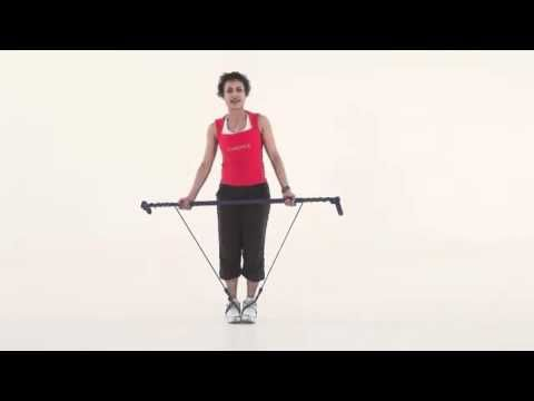 Gymstick Australia Side lunge with underhand press and balance