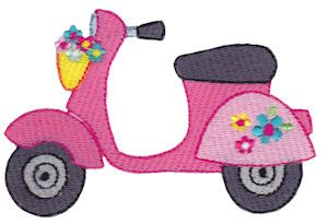 Summer Loving 4 single machine embroidery design for instant download.