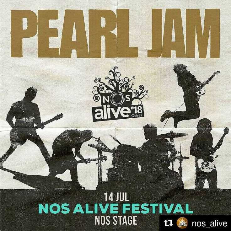 O regresso que tantos aguardavam! @pearljam no @nos_alive 2018!  Sabe mais sobre o Festival em www.canoticias.pt  Pearl Jam  14 Jul  NOS Alive Festival . Bilhetes / Tickets: nosalive.com . #NOSalive #PearlJam #visitportugal #visitlisboa #NosAlive18 #lisboa #Lisbon #rock #rockconcert #ROCKMUSIC #eddievedder @everythingisnewpt