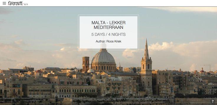 MALTA - LEKKER MEDITERRAAN by Roos Kriek. http://www.peecho.com/print/en/75764