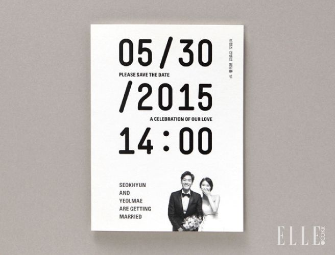 Personalized wedding invitation card | Love the typography and usage of couple's photo