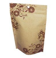 il trasporto libero 200 pz universale della chiusura lampo sacchetto di carta kraft foglio di alluminio con stampa fiore , l'imballaggio