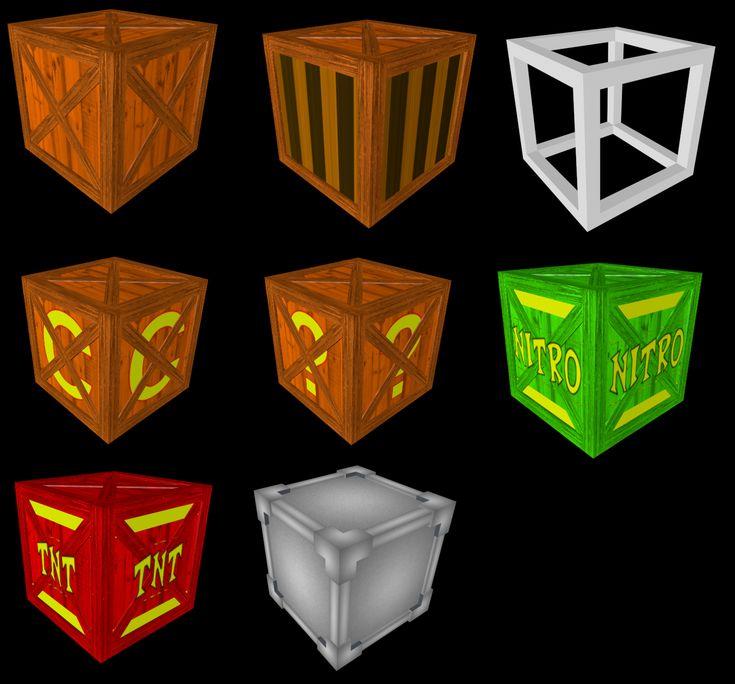 3D Crash Bandicoot Crates by MelPurpleCrystal.deviantart.com on @deviantART
