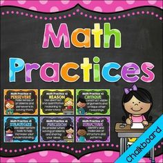 Chalkboard Mathematical Practices Posters | by Gabby's Classrooms | $2.50