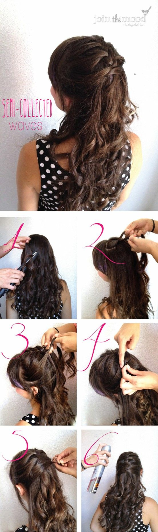 A Collection of 20 Chic Hairstyles for All Occasions -- Semi Collected Waves Hairstyle
