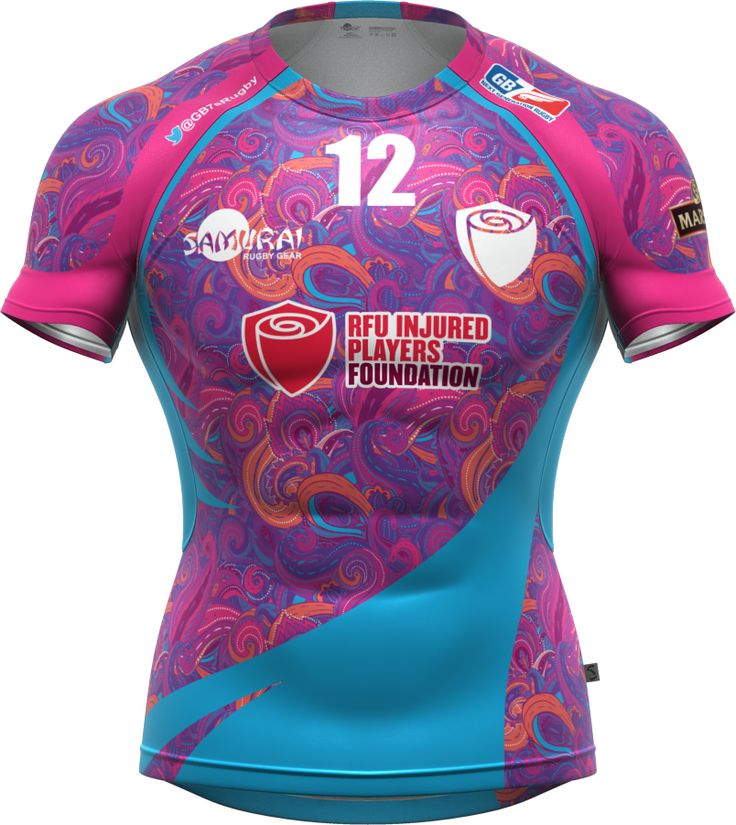 The RFUIPF 7s team kit for the 2014 GB7s Series. Iconix rugby kit from www.samurai-sports.com