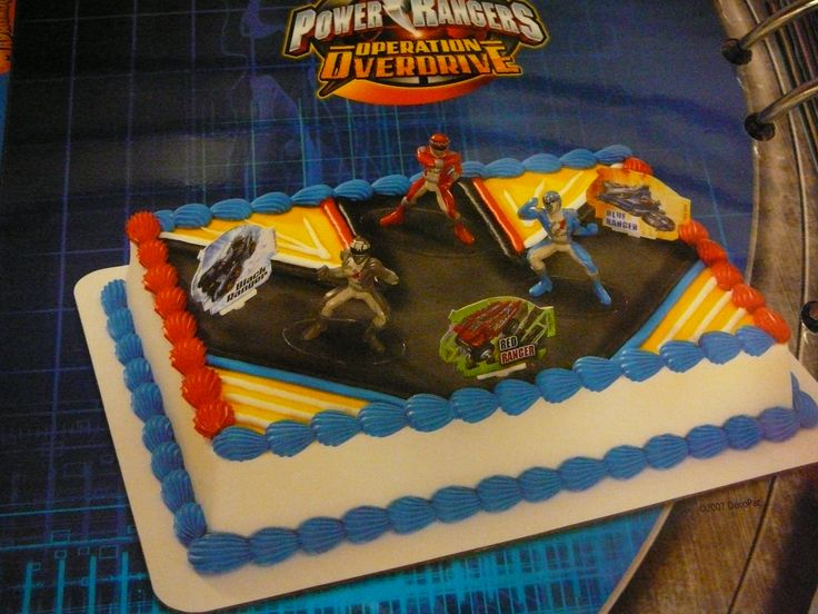 Power Ranger Sheet Cake