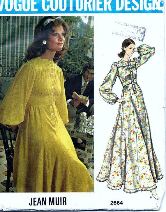 Vintage 60s Vogue Couturier Jean Muir Dress by vintagepatternstore, $23.95