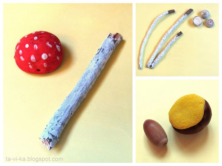 грибы из желудей и каштанов